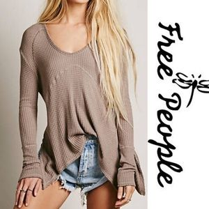 Free People Sunset Park Thermal Pullover
